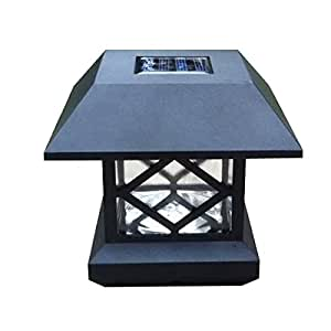 generic solar post cap light deck fence mount