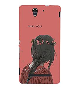 Miss You 3D Hard Polycarbonate Designer Back Case Cover for Sony Xperia C3 Dual :: Sony Xperia C3 Dual D2502