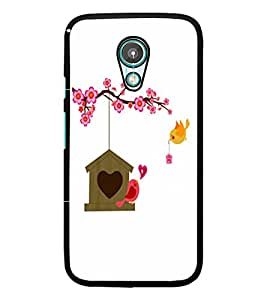PrintDhaba Love Birds D-1183 Back Case Cover for MEIZU M2 NOTE (Multi-Coloured)