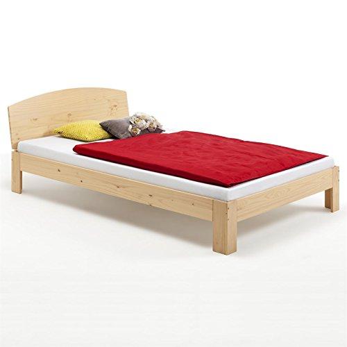 Holzbett-Einzelbett-Bett-TIM-Kiefer-massiv-buchefarben-lackiert-100-x-200-cm-B-x-L
