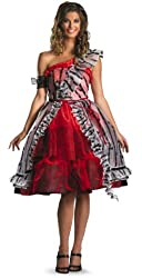 Disguise Women's Alice In Wonderland Movie Red Court Dress Costume