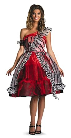 Disguise Women's Alice In Wonderland Movie Red Court Dress Costume, Red/Black, Small