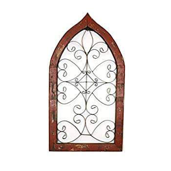 Heavy Aladdin Gothic Architectural Window-Red