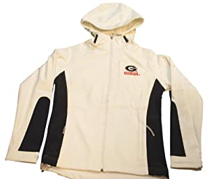 Georgia Bulldogs Colosseum Ladies Weather Resistant Hooded White Jacket (M) by Colosseum