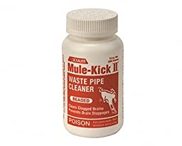 MULE KICK 291658 Caustic Waste Pipe Cleaner, 12 oz. Size