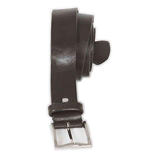 Cintura taglie forti uomo Maxfort CUOIO 4cm extra lunga - Nero, 140 CM