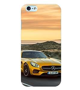 Printvisa Premium Back Cover Speeding Yellow Convertible Design For Apple iPhone 6