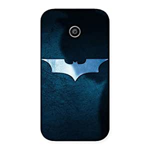 Ajay Enterprises Fill Blu Knight Back Case Cover for Moto E