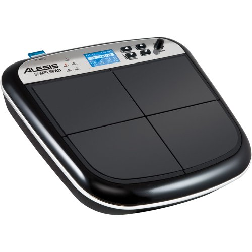 Alesis Sample Pad Percussione Elettronica con 4 Pad Sensibili alla Dinamica e Lettore Schede SD