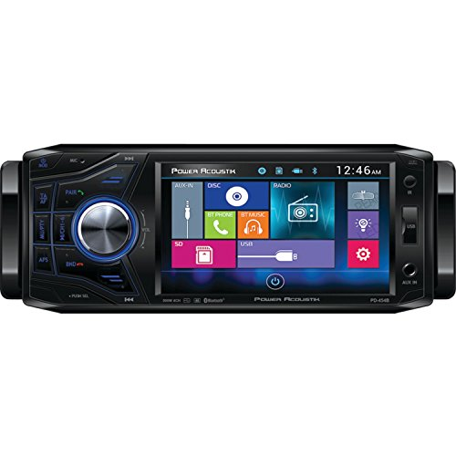 "Power Acoustik PD 454B 4.5"" Single-DIN In-Dash Oversized & Detachable LCD Touchscreen DVD Receiver"