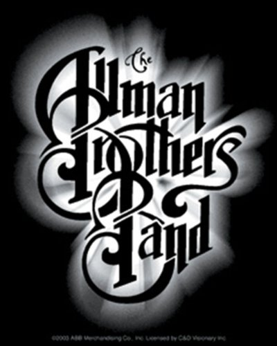 Licenses Products Allman Brothers Glow Logo Sticker