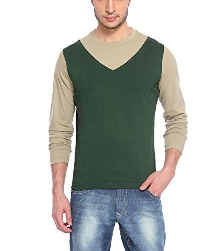 4d16c06d465a Hot Pepper Men's Cotton Round Neck - V style - Full Sleeve T-shirt -Bottle  green Price in India | Buy Hot Pepper Men's Cotton Round Neck - V style -  Full ...