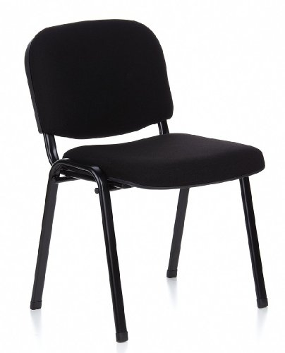 Buerostuhl24 704000 XT 600 Conference/vistors' Chair Black / Black