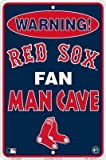 Boston Red Sox Fan Man Cave Metal Sign 8 x 12