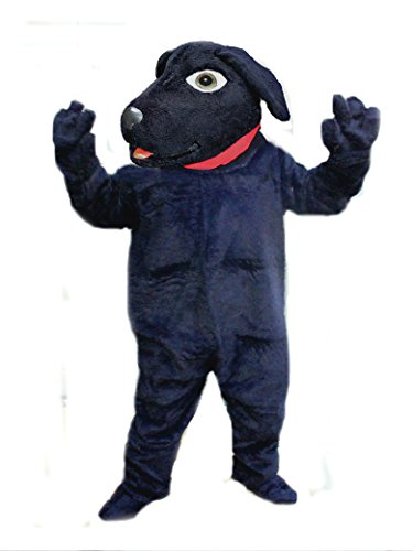 Mascots USA by CJs Huggables Custom Pro Low Cost Black Lab Dog Mascot Costume