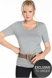 Twiggy for M&S Woman Scoop Neck Plain T-Shirt