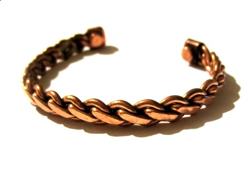Copper Magnetic Bracelet for Men or Women Rope Design