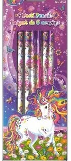 Lisa Frank 6 Pack Pencils - Rainbow Majesty