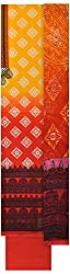 Threads Women's Cotton Dress Material (Th7028_Orange Printed)