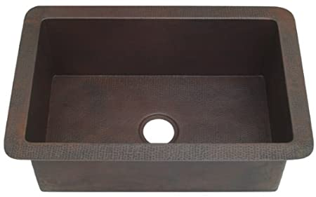 KDI30 inch Hammermarc Copper Kitchen Sink