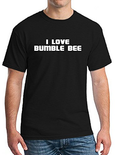 I LOVE BUMBLE BEE Mens Womens Unisex Adult T-shirt Tee Clothing
