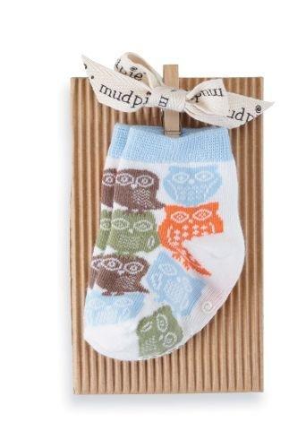Mud Pie Baby-Boys Newborn Boy Owl Sock, Multi, 0-12 Months front-536072
