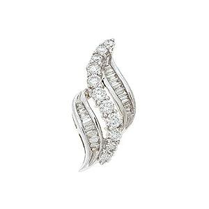 0.77CTW 18K White Gold Genuine Diamond Pendant