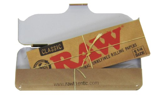 Bundle-5-Items-RAW-Natural-Rolling-Papers-1-14-Tin-Case-Clipper-Lighter-Tips-and-RPD-Doob-Tube