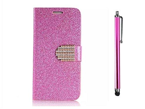 KSHOP Bling Strass Portefeuille Coque pour iPhone 6 plus iPhone 6S plus Ultra Mince Luxe Flip Cuir Housse Etui Sparkle Glitter Magnétique Wallet Case