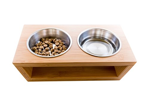 Premium Elevated Dog And Cat Pet Feeder Double Bowl
