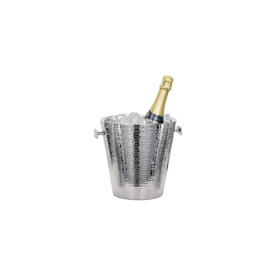 Torre & Tagus Kiro Hammered Stainless Steel Double Wall Champagne Bucket