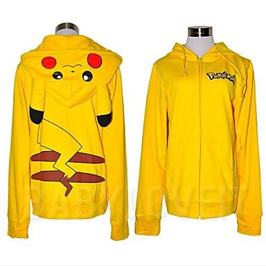Kaifina Pocket Monster Pikachu Adult Kigurumi Hoodie Coat