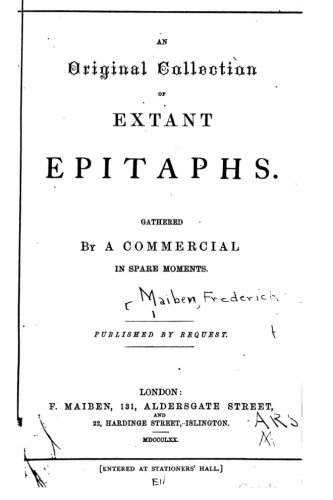 An original collection of extant epitaphs PDF