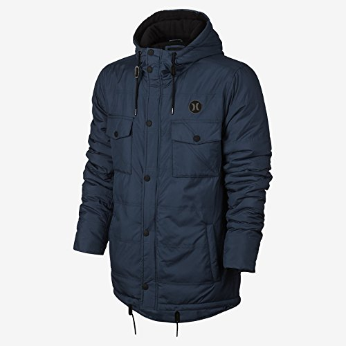 Hurley MJK0001600 Mens Offshore Parka Jacket, Squadron Blue,L