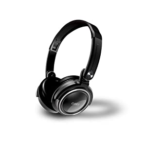 Coby CV185 Folding Deep Bass Stereo Headphones, Black (Discontinued by Manufacturer)