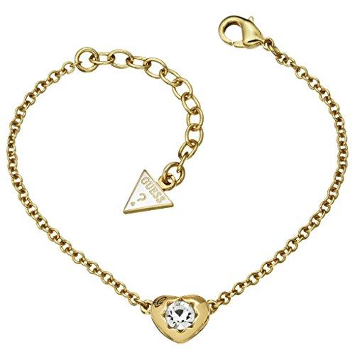 GUESS UBB51414 Damen Armband Herz Edelstahl gold weiß Zirkonia 20 cm thumbnail