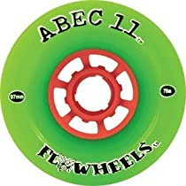 Abec 11 Longboard Wheels Flywheel Green 97mm 75a (Set of 4)