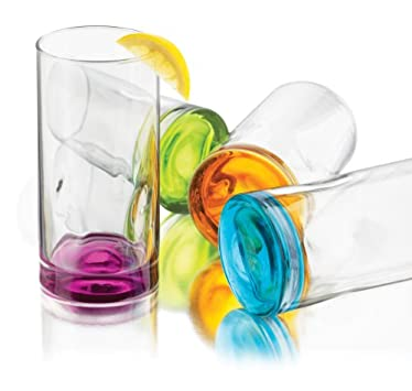 Libbey Impressions Colors Cooler Glass Set, 4-Piece