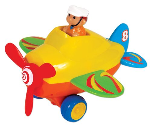 Small World Toys Preschool - Press 'N' Go Activity Plane