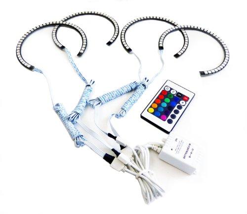 Genssi® Led Rgb Multi Color Halo Rings For Headlight 131Mm For Bmw E36 E38 E39 E46
