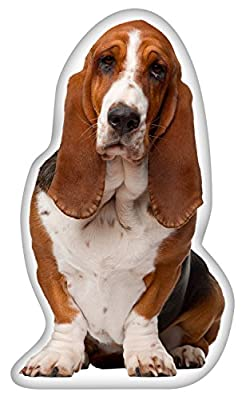 iLeesh Basset Hound Shaped Pillow