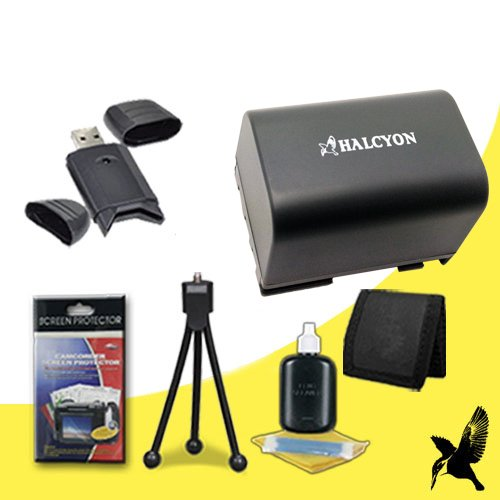 Halcyon 1300 Mah Lithium Ion Replacement Bp2L12 Battery + Memory Card Wallet + Sdhc Card Usb Reader + Deluxe Starter Kit For Canon Vixia Hv40 High Definition Camcorder And Canon Bp-2L12