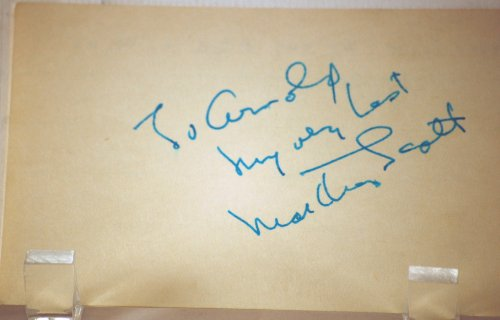 Martha Scott Vintage Autograph - 3x5 Card - TV & Film Actress - Inscribed - Our Town / Ten Commandments / Ben-Hur / Charlotte's Web / Dallas / Hotel - Very Rare - Collectible