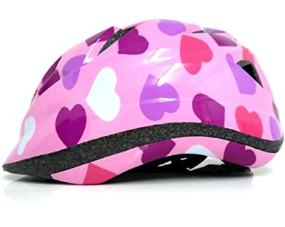 Raleigh Girl's Rogue Hearts Cycle Helmet - Pink, 52-57 cm from Raleigh