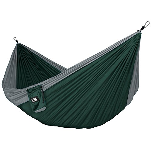 Alpha-Double-Camping-Hammock-Lightweight-Portable-Rip-Stop-Nylon-Parachute-Hammock-for-Backpacking-Travel-Beach-Yard-Hammock-Straps-Steel-Carabiners-Included