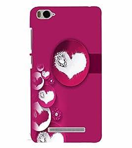 PrintVisa Romantic Love Hearts 3D Hard Polycarbonate Designer Back Case Cover for Xiaomi Redmi MI 4C