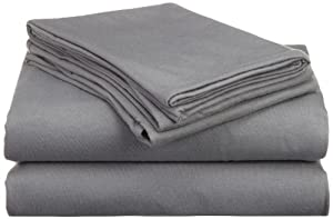 Hanes Jersey Knit Queen Sheet Set, Frost Gray