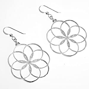 7 Rings of Peace Silver Dipped Earrings