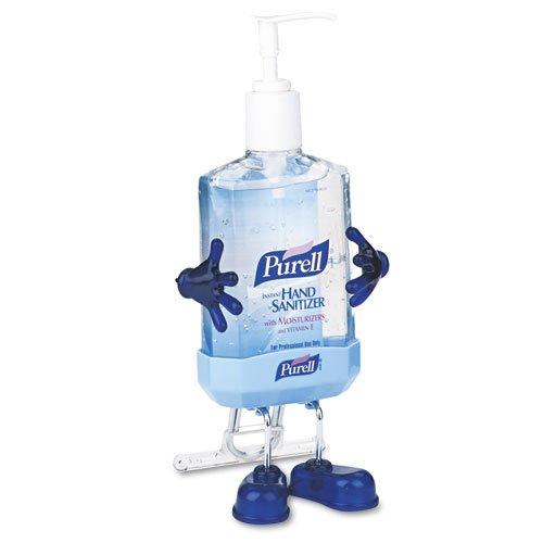 PURELL Pal Instant Hand Sanitizer Desktop Dispenser w/8-fl. oz. Pump Bottle - pal holder and one pump bottle of sanitizer.