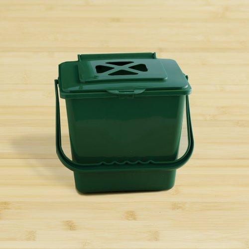 Kitchen Compost Bucket (5.5 Quart, Green)